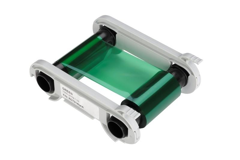 Grönt monokromt färgband för Zenius/Primacy, 1000 kort/kassett