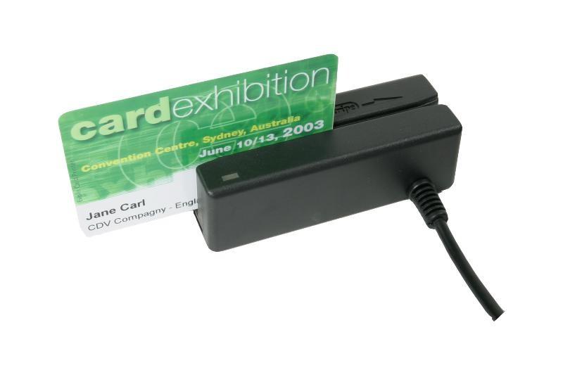 MiniMag, Magnetkortläsare, USB, spår 1/2/3, Svart