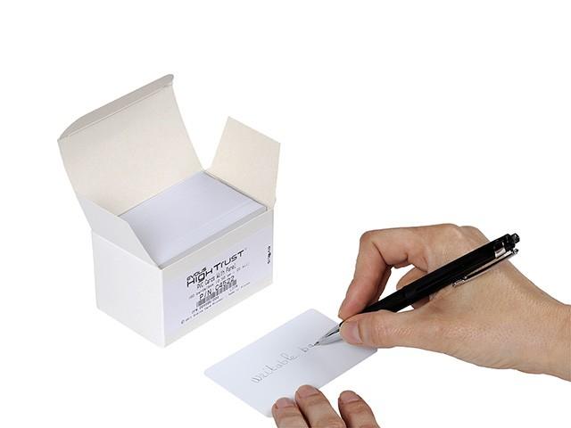 Plastkort med skrivbar baksida, 0,50 mm, 100 st
