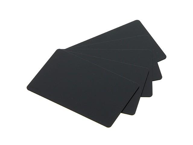 Plastkort PVC-U, mattsvart, 0,76 mm, 500 st