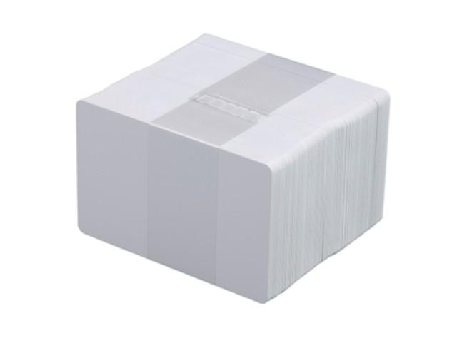 Plastkort, Vitt, 0,76 mm, signaturfält, 100 st