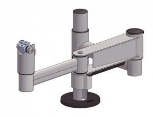 SpacePole, komplett stolpe, smal, med flerledad arm