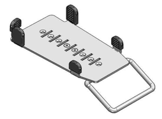SpacePole, platta för kortterminal iPP350 Multigrip