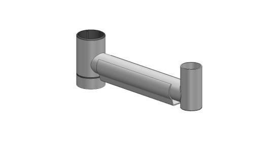 SpacePole, tillvalsarm, 250 mm