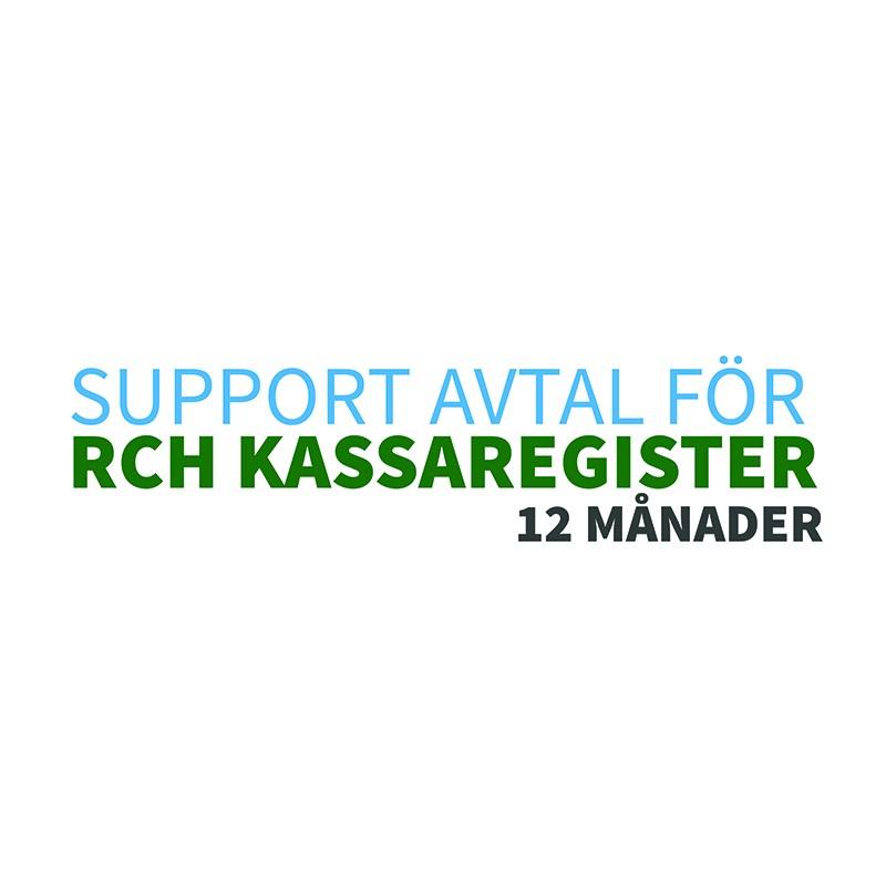 Supportavtal för RCH kassaregister, 12 månader