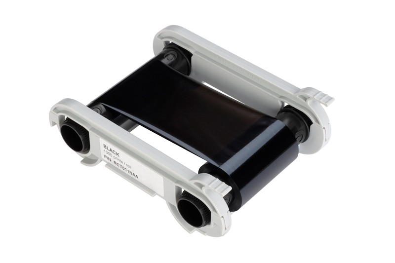 Svart monokromt vaxfärgband för Zenius/Primacy, 1000 kort/kassett