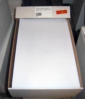 Transportetikett Fraktarna ASG, DHL, Laser, 105 x 220mm, 1000st etikett