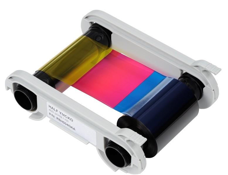 YMCKO-halvpanel för färgsutskrift, 400 kortsidor/kassett