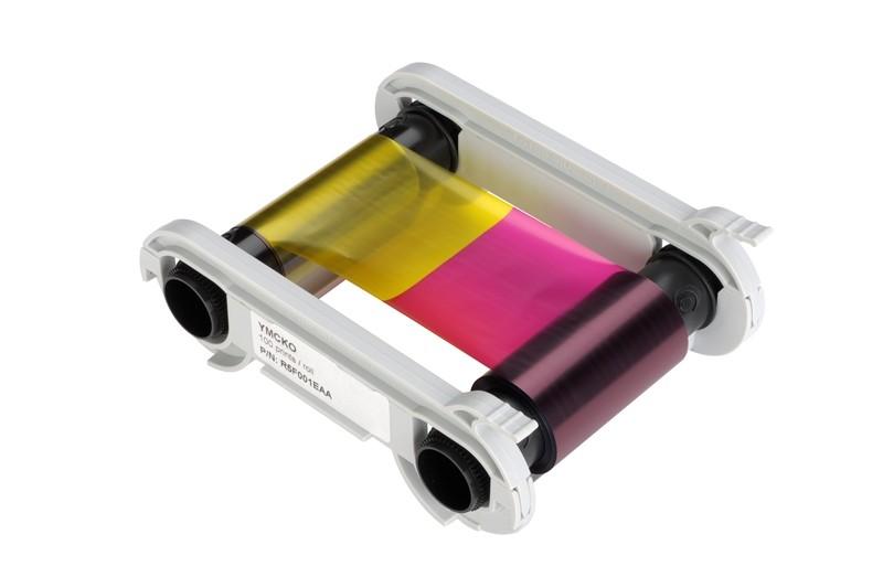 YMCKO-K färgband, 200 kort/kassett, Primacy, Dual Side