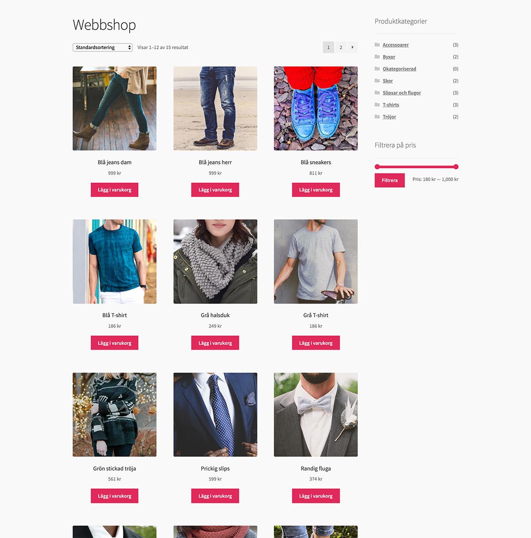 MoreFlo Webbshop - Produkter